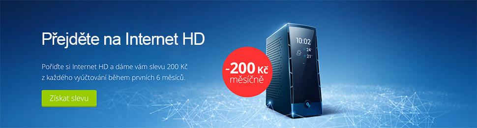 Sleva 200 Kč na Internet HD