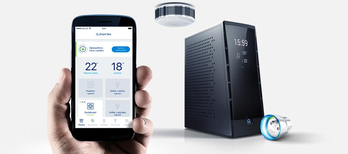 O2 Smart Box, čidla, aplikace